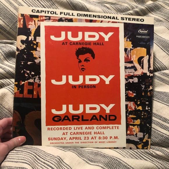 Judy Garland at Carnegie Hall vinyl record